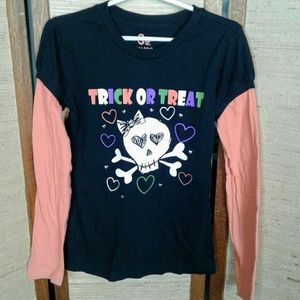Trick or treat girls Halloween top M 10/12